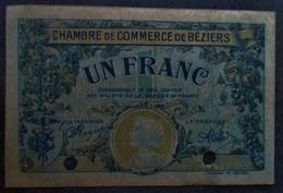 SPÉCIMEN 1 Franc 1922 BÉZIERS (34) - Chambre De Commerce
