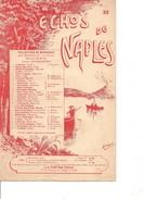 Partition- Echos De Naples -   -Paroles :   - Musiques:   - Duo Pour Mandoline Ou Violon - Non Classés