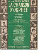 Partition- La Chanson D'orphée -G. Jouvin M. Legrand ...  -Paroles : F. LLENAS  - Musique: L. BONFA - Non Classés