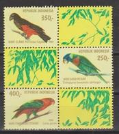Indonesie Blok Sheet 1025 (B43) MNH ; Vogels, Oiseau, Ave, Birds, Papegaai, Parit NOW MANY STAMPS INDONESIA VERY CHEAP - Papegaaien, Parkieten