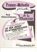 Partition- Si Toi Aussi Tu M'abandonnes  -  -Paroles : M. Francois Et H.Contet  - Musique: D. TIOMKIN - Non Classés