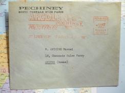 Afcolene Pechiney Polystyrene 0.05F 14/11/1951 Paris 42 - Oblitérations Mécaniques (flammes)