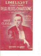 Partition- Deux Petits Chaussons  - Andre Claveau -Paroles : J. LARUE  - Musique: Charles CHAPLIN - Non Classés