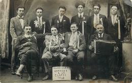 03 - Marcillat (Allier) - Carte Photo - Conscrits De La Classe 1928 - Commune De Marcillat - Accordéoniste -voir 2 Scans - Other Municipalities