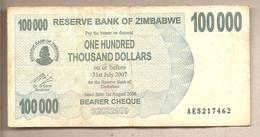 Zimbabwe - Banconota Circolata Da 100.000 Dollari - 2006 - Zimbabwe