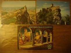 Lot De 6 Cartes De SAN MARINO - SAINT MARIN : Sacrario Scalette (voir Timbres Stamp Carte 5) - Saint-Marin