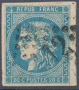 Stamp,Timbre  France 1870-71 Ceres 20c Imperf Used Lot1 - 1870 Emisión De Bordeaux