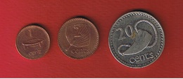 Fidji  -  Lot De 3 Monnaies - Fiji