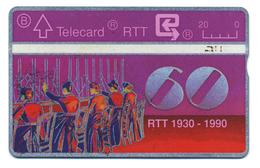 Belgique, Belgacom, Telecard 20, Thème, Téléphones, 60 Ans RTT, Standard Téléphonique - Telefoni