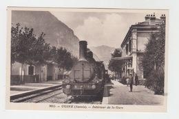 73 - UGINE / LA GARE AVEC TRAIN - Ugine
