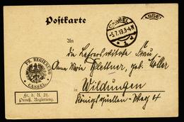 A4387) DR Dienstkarte FdA 21 Von Cassel 5.7.19 Nach Wildungen - Deutschland
