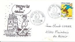 France Enveloppe Philatélique (cachet Crozon) Fete Du Timbre 2000 Tintin - FDC