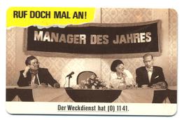 Allemagne, Telekom, Telefonkarte 40, Thème, Téléphones, Ruf Doch Mal An, Manager Des Jahres - Telefoni