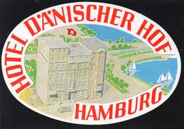 VIEILLE ETIQUETTE AUTOCOLLANTE ALLEMAGNE HOTEL DANICHER HAMBURG VINTAGE LUGGAGE LABELT - Hotel Labels