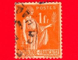 FRANCIA - Usato - 1935 - Allegorie Di Pace - 1 - 1932-39 Paix