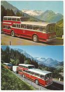 BUS FBW 1 1/2 Decker Anderthalbdecker Oldtimer Frutigen Adelboden AFA Bern 2 Rare Karten - BE Berne