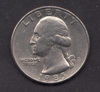 1985 Quarter Dollar - 1932-1998: Washington