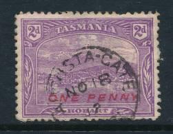 TASMANIA, Postmark   AUGUSTA GATES - Gebraucht