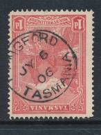 TASMANIA, Postmark   LONGFORD - Gebraucht