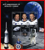 BHUTAN 1999 APOLLO SPACE PROGRAM M/S ARMSTRONG  MNH ** FREE POSTAGE Is POSSIBLE - Bhután