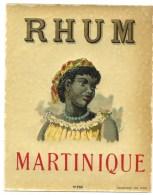 """étiquette Rhum  Martinique """"visage Femme Coiffe """" étiq Vernie  N°252 Imp Viellemard  Paris  """"1890"""" - Rhum"""