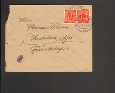 Alli.Bes.2 X 12 Pfg.Ziffer Auf Fernbrief Aus Rostock Vom 5.3.46 - Gemeinschaftsausgaben