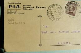 PESARO - SOCIETA' ANONIMA PIA PRODOTTI INDUSTRIALI ALIMENTARI 1927 - Pesaro