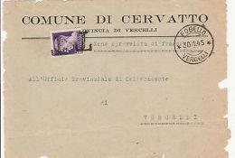 """RSI-FOBELLO-1 Lira IMPERIALE Su Frontespizio Annullato """"T"""" Per Tassa 30.1.1945 - 5. 1944-46 Luogotenenza & Umberto II"""
