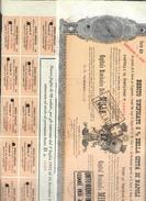 Debito Unificato 5% Della Città Di Napoli 1926 1000 Lire Con Cedole Dal 1931 Al 1979 Taglietti E Pieghe Doc.245 - Azioni & Titoli