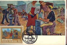 (Le) Romania, Maximum Card, Painting, Henri Catargi - The Shipyard, Post Stamp Balkanfila 1983 - Modern