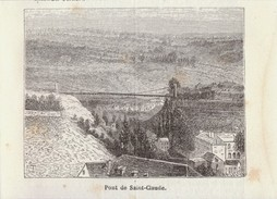 1888 - Gravure Sur Bois - Saint-Claude (Jura) - Le Pont - FRANCO DE PORT - Estampes & Gravures
