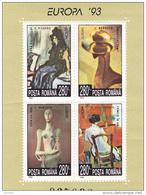 #163         EUROPA `93, PAINTIGS, BLOCK #282, Yv. 228, Mi. 4891/94 1993  MNH**, ROMANIA. - 1948-.... Republiken