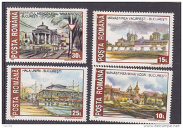 #163  HISTORIC MONUMENTS, DESTROYED   FULL SET Mi. 4859/62   1993   MNH**, ROMANIA. - 1948-.... Républiques