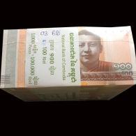 Lot Of 10 Cambodia Cambodge Kampuchea 100 Riels UNC Banknotes 2014 / 02 Images - Cambodia