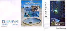 Penrhyn 2011, Perarls, 4val In BF In FDC