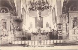 FRAISANS - INTERIEUR DE L'EGLISE . CARTE ECRITE AU VERSO - Autres Communes