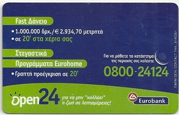 Greece - Eurobank Open24 No3 - X1144 - 06.2001 - 35.000ex, Used - Greece