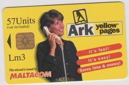 Télécarte   Malte :  Maltacom   Ark  Yellow  Pages - Malta