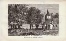 1880 - Gravure Sur Bois - Honfleur (Calvados) - La Côte De Grâce - FRANCO DE PORT - Prints & Engravings