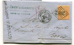JURA De LONS LE SAUNIER GC 2082 Sur N°23 Sur LAC Du 31:08:1867 - 1849-1876: Classic Period
