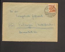Alli.Bes.24 Pfg. Arbeiter Auf Fernbrief Aus Bad Salzungen Von 1948 Mit Ortswerbestempel - Gemeinschaftsausgaben