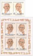 Penrhyn 2012, Popes Benedict And J.Paul II, 2val +BF - Penrhyn