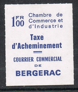 FRANCE TIMBRE DE GREVE N°31 NEUF BERGERAC - Strike Stamps