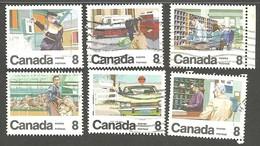 Sc. #634-38 Letter Carrier Service Used 1974 K252 - 1952-.... Règne D'Elizabeth II