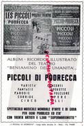 THEATRE DES PICCOLI DI PODRECCA- ITALIE- ROMA- INGRID BERGMAN- GRETA GARBO-FAUST-IL GATTO- HARPE- RUMBA- - Programs