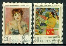 Pierre Auguste Renoir - RUSSIE - URSS - Portrait De Jeanne Samary - Paul Gauguin: Femme Au Fruit - N° 3685-3686 - 1970 - 1923-1991 USSR