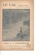 Partition- LE LAC -    Paroles : A; De LAMARTINE - Musique:  L. NIEDERMEYER - Non Classés