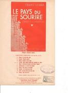 Partition- Le Pays Du Sourire -  Franz LEHAR-  Paroles : A. MAUPREY Et J. Marietti - Musique: F; LEHAR - Non Classés