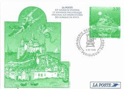 France 1998 Perigueux Mont Saint-Michel Monastry UNESCO World Heritage Site Postal Stationary Card - Postwaardestukken