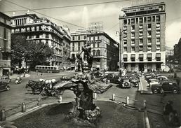 Roma (Lazio) Piazza Barberini, Place Barberini, Barberini Square, Barberini Platz, Carrozze Con Cavalli, Bus, Auto, Cars - Piazze